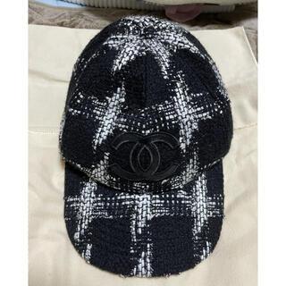 シャネル(CHANEL)のLサイズ シャネル キャップ 帽子 レア ツイード chanel 中古 美品(キャップ)