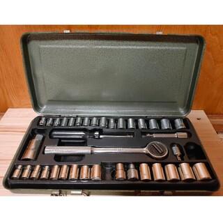 【送料無料】 3/8 ラチェットレンチ ソケット35個 Mサイズ インチサイズ (工具)