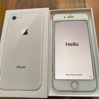 アイフォーン(iPhone)のiphone8 64GB シルバー SIMフリー(スマートフォン本体)