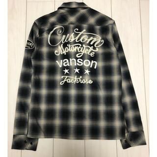 ジャックローズ(JACKROSE)のjackrose × vanson 刺繍 ネルシャツ L(シャツ)