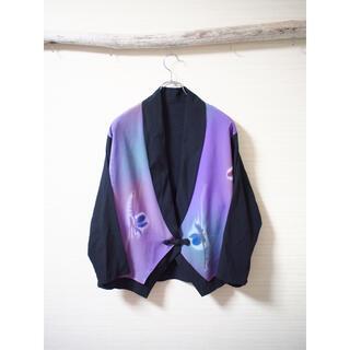 Yohji Yamamoto - 【和】flower motif HAORI-jacket Purple