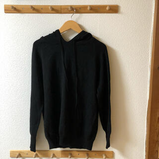 シマムラ(しまむら)の新品 ニットパーカー ブラック 黒 ニット パーカー(パーカー)
