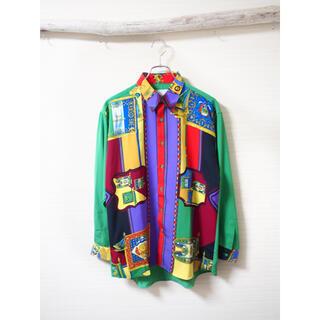 ART VINTAGE - 【Art design】crazy pattern vivid shirt