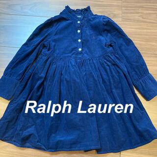 Ralph Lauren - 【ラルフローレン】ワンピース コーデュロイ ネイビー 綿100% 110cm