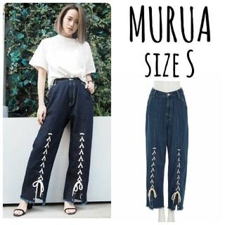 ムルーア(MURUA)のMURUA lace up denim pants 1(デニム/ジーンズ)