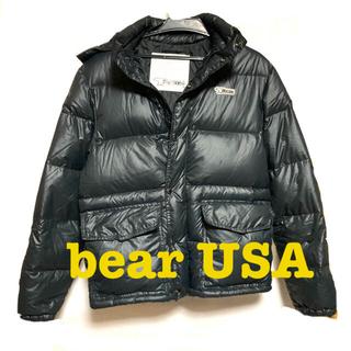 ベアー(Bear USA)のBear USA ベアーユーエスエー ダウン ブラック 黒 M(ダウンジャケット)