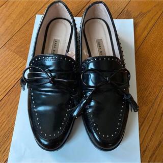 ザラ(ZARA)のZARAローファーブーツ(ローファー/革靴)