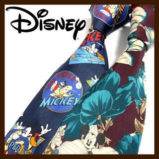 ディズニー(Disney)の【レア2本セット】ディズニー シルクネクタイ アメリカ製&イタリア製 ミッキー(ネクタイ)
