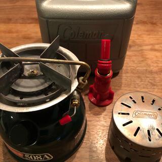 コールマン(Coleman)のコールマン バーナー 508A + ヒーターアタッチメント + ガソリンフィラー(ストーブ/コンロ)