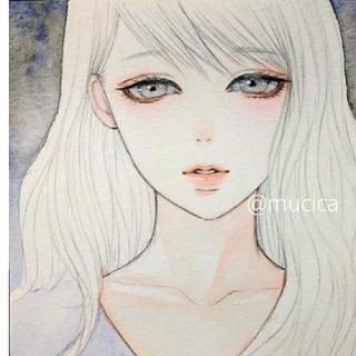 手描きイラスト「 Daydream 」オリジナル 水彩画(絵画/タペストリー)