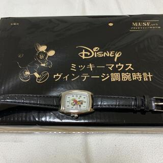 ディズニー(Disney)のミッキーマウス ヴィンテージ調腕時計 MUSE付録(腕時計)