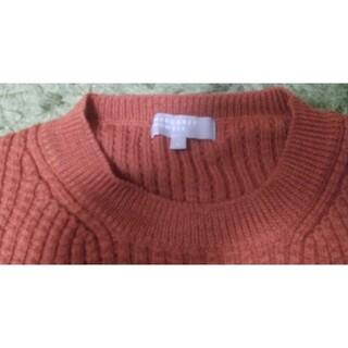 マーガレットハウエル(MARGARET HOWELL)のマーガレットハウエル ウールニット 日本製 ブラウン 茶色 メンズL(ニット/セーター)