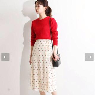 イエナ(IENA)の【ROUJE】チェリー巻きスカート IENAイエナサイズ34(ひざ丈スカート)