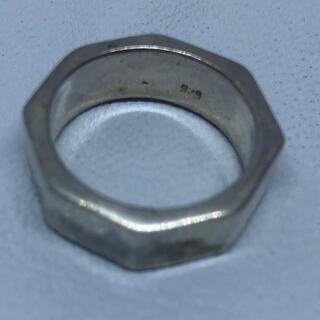 オクタゴン 八角形 多角形 シルバー925リング  スターリング ギフト(リング(指輪))