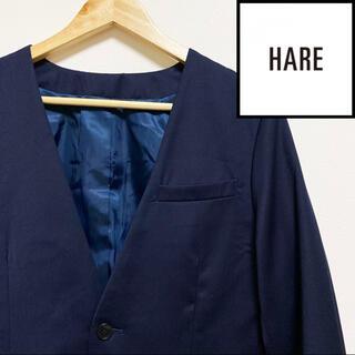 ハレ(HARE)のHARE ハレ ノーカラージャケット NAVY S(ノーカラージャケット)