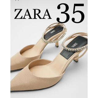 ZARA - 2 ZARA ザラ 新品 シャイニーストラップ ハイヒールシューズ 35