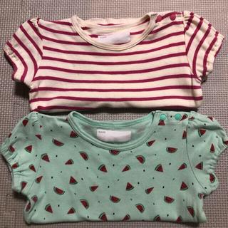 ベルメゾン - 【中古】ベルメゾン☆女の子80半袖Tシャツ2枚セット