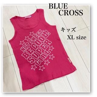 bluecross - BLUE CROSS♡大きいサイズ♡XL♡子供用♡キッズ用♡ピンク♡ロゴ タンク