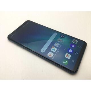 エルジーエレクトロニクス(LG Electronics)の【SIMフリー】【美品】au isai V30+ LGV35 ブルー 288(スマートフォン本体)