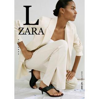 ザラ(ZARA)の2 ZARA ザラ 新品  リブ編みワイドレッグパンツ L(カジュアルパンツ)