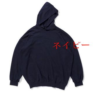 COMOLI - 久米繊維 ビッグフーディースウェット 紺