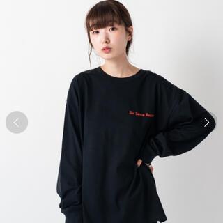 カスタネ(Kastane)の【Kastane】SIX SENCE LIFE ロンT【ブラック】(Tシャツ(長袖/七分))