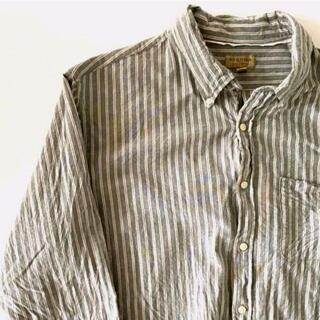 ウィリアムズソノマ(Williams-Sonoma)のソノマ ストライプシャツ 2XL 古着長袖オックスフォードシャツ(シャツ)