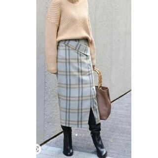 ノーブル(Noble)のNoble 36サイズ ウールチェック柄スカート(ロングスカート)