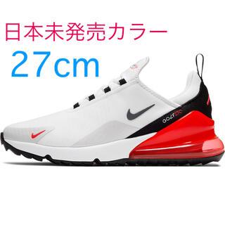 ナイキ(NIKE)のラス1☆日本未発売 27cm NIKE AIR MAX 270G 白赤(シューズ)