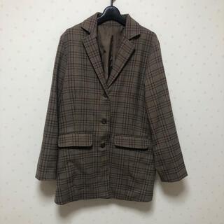 RETRO GIRL - ブラウンチェックジャケット