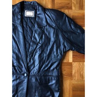 コムデギャルソン(COMME des GARCONS)の90s vintage 古着 レザー コート ステンカラー ブラック 菅田将暉(レザージャケット)