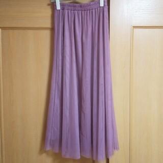 シマムラ(しまむら)のしまむら♡チュールロングスカート♡くすみピンク♡Mサイズ♡(ロングスカート)
