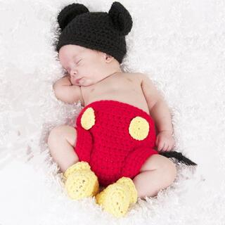 かわいすぎ♡子供記念撮影 新生児 記念撮影 出産祝い 写真小物 3点セット(ニット/セーター)