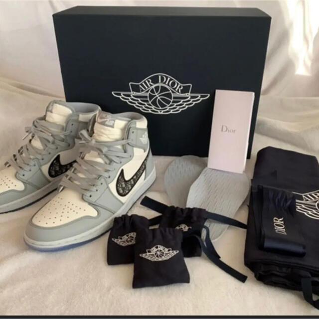 Dior(ディオール)のナイキ エアジョーダン1 レトロ ハイ ディオール メンズの靴/シューズ(スニーカー)の商品写真