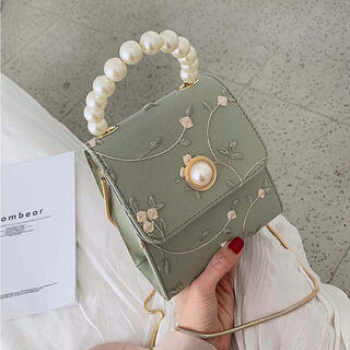 【本日限定セール】INGNIジャンル♡韓国ファッション 花柄チュールパールバッグ