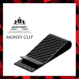 マネークリップ メンズ カーボン ブラック かっこいい おしゃれ ミニ財布(マネークリップ)