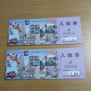 東武動物公園 小人用 入園券 2枚セット(動物園)