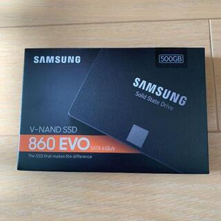 サムスン(SAMSUNG)の新品未開封サムスン Samsung SSD 860 EVOシリーズ 500GB(PCパーツ)