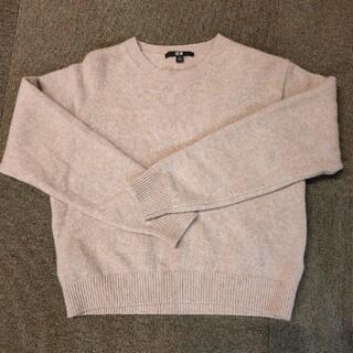 ユニクロ(UNIQLO)のUNIQLOプレミアムラムクルーネックセーター(ニット/セーター)
