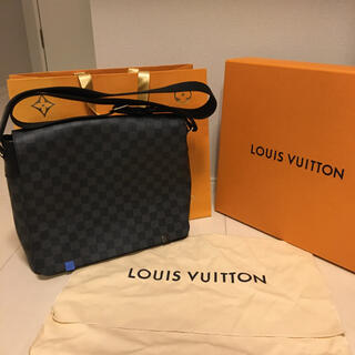 LOUIS VUITTON - 【新品同様】ルイヴィトン ディストリクト MM NM ダミエ グラフィット