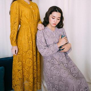 グリモワール(Grimoire)のLebecca boutique 泣きたい朝のワンピース パープル(ロングワンピース/マキシワンピース)
