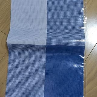 ランチョンマット 青 4枚セット 新品(テーブル用品)