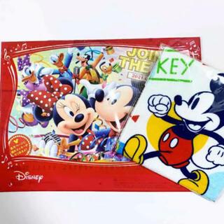 ディズニー(Disney)の【新品未使用】ディズニーカレンダー 2021、ミッキーのタオル(カレンダー/スケジュール)