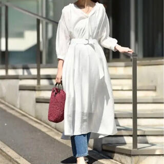 ナチュラルクチュール(natural couture)のギャザーシャツワンピNATURAL GU UNIQLO BEAMS  ZARA(ロングワンピース/マキシワンピース)