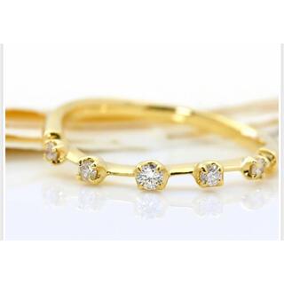 アーカー(AHKAH)の【新品未使用】BIZOUXメテオールK18ダイヤモンドリング(リング(指輪))