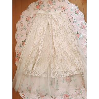 プロポーションボディドレッシング(PROPORTION BODY DRESSING)の♡フラワーチュールスカート♡(ロングスカート)