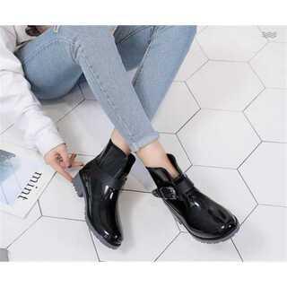 カジュアル 軟らかい底 レインシューズ(レインブーツ/長靴)