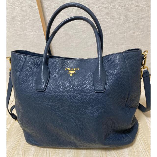 PRADA(プラダ)のPRADA プラダ トート バッグ 青 藍色 レディースのバッグ(トートバッグ)の商品写真