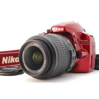 ニコン(Nikon)の★ WiFiSDでスマホ転送OK! Nikon D3200 レッド ★(デジタル一眼)