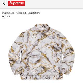 Supreme - Lサイズ定価以下 supreme  marble track jacket  白
